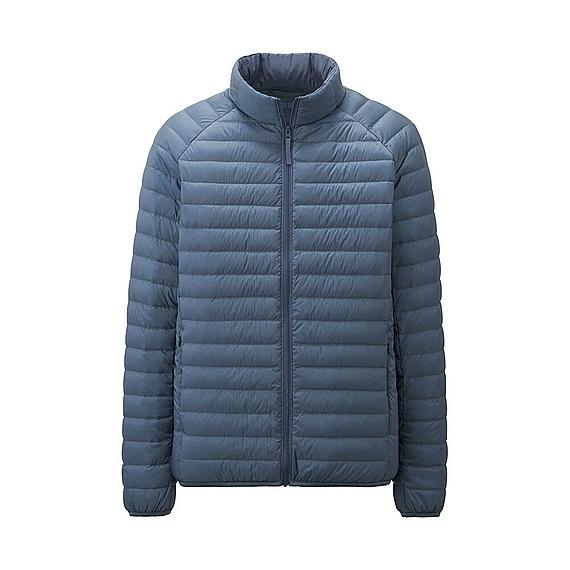 uniqlo ultra light down jacket in blue for men lyst. Black Bedroom Furniture Sets. Home Design Ideas