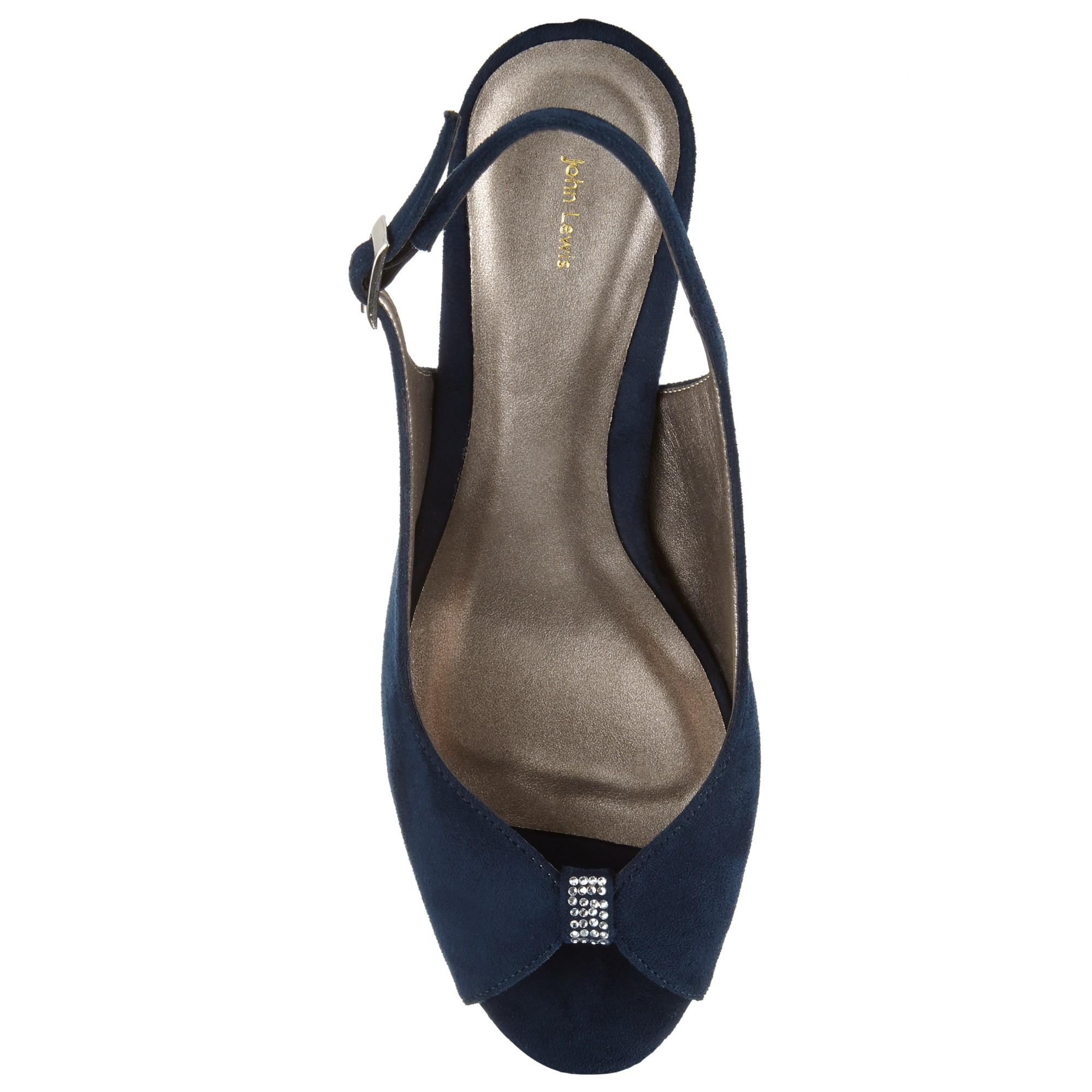 Uk Navy Sling Back Blue Shoes