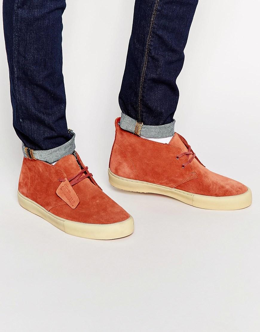 Clarks Desert Vulc Chukka Boots in Red for Men | Lyst