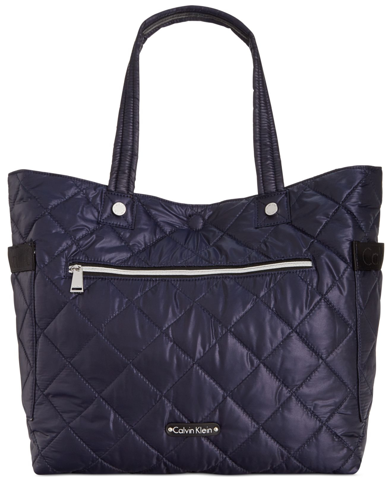 Calvin klein Cire Reversible Extra Large Quilted Nylon Tote in ...