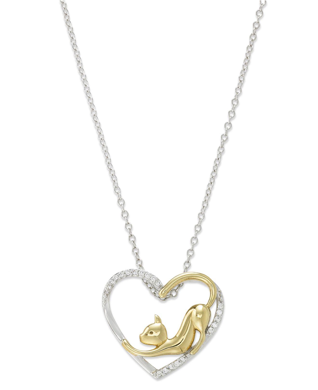 macy 39 s aspca tender voices diamond cat heart pendant. Black Bedroom Furniture Sets. Home Design Ideas
