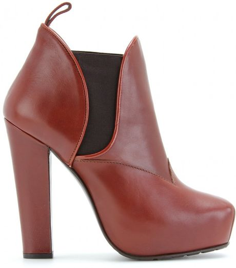 Proenza Schouler Platform Ankle Boots in Brown