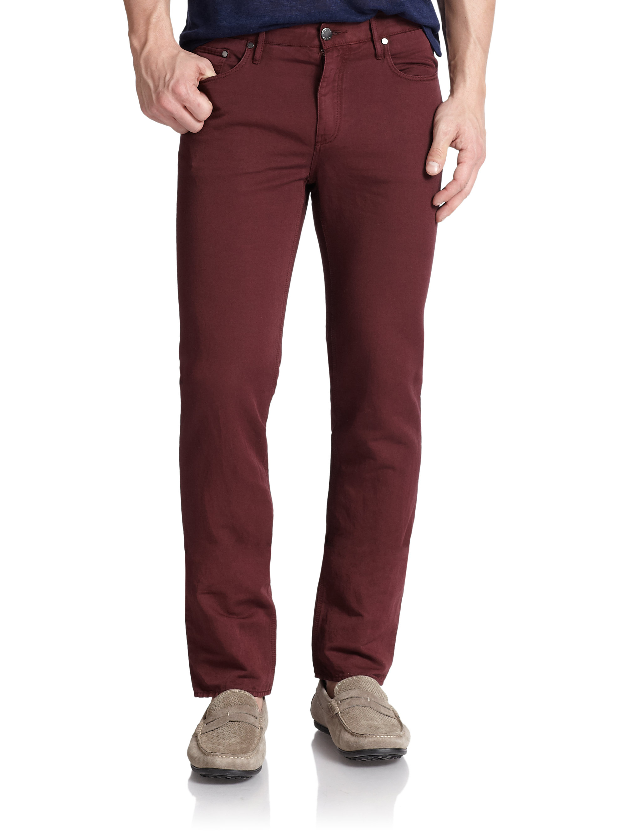 michael kors tailored straight leg jeans in red for men lyst. Black Bedroom Furniture Sets. Home Design Ideas