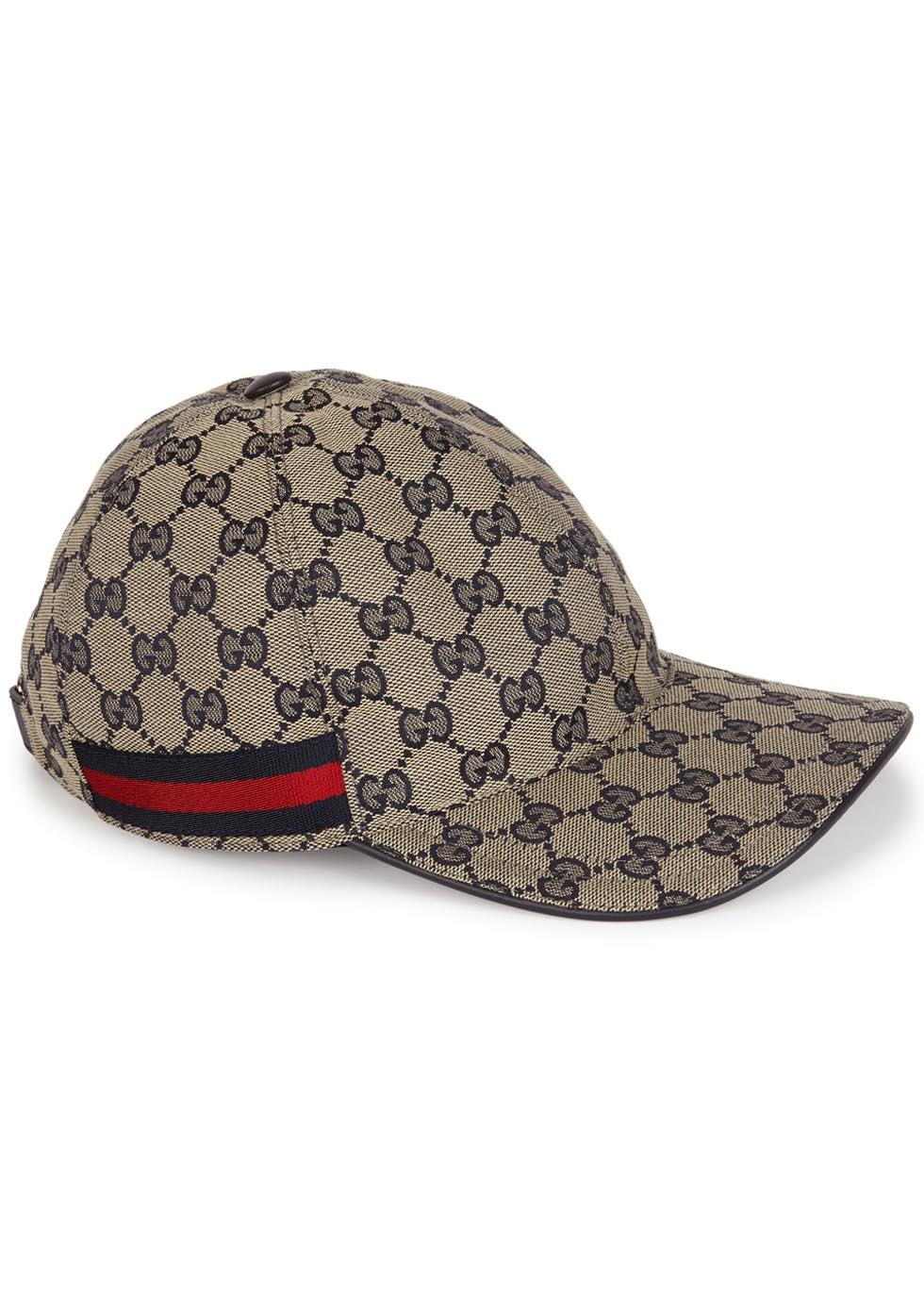 Gucci gg sand monogrammed canvas cap in blue lyst for Ka international tessuti arredamento