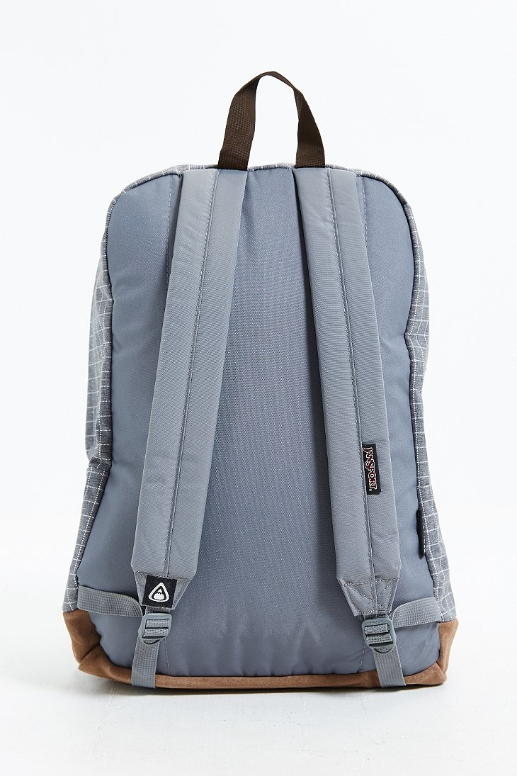 Jansport Right Pack Grid Backpack in Gray for Men | Lyst