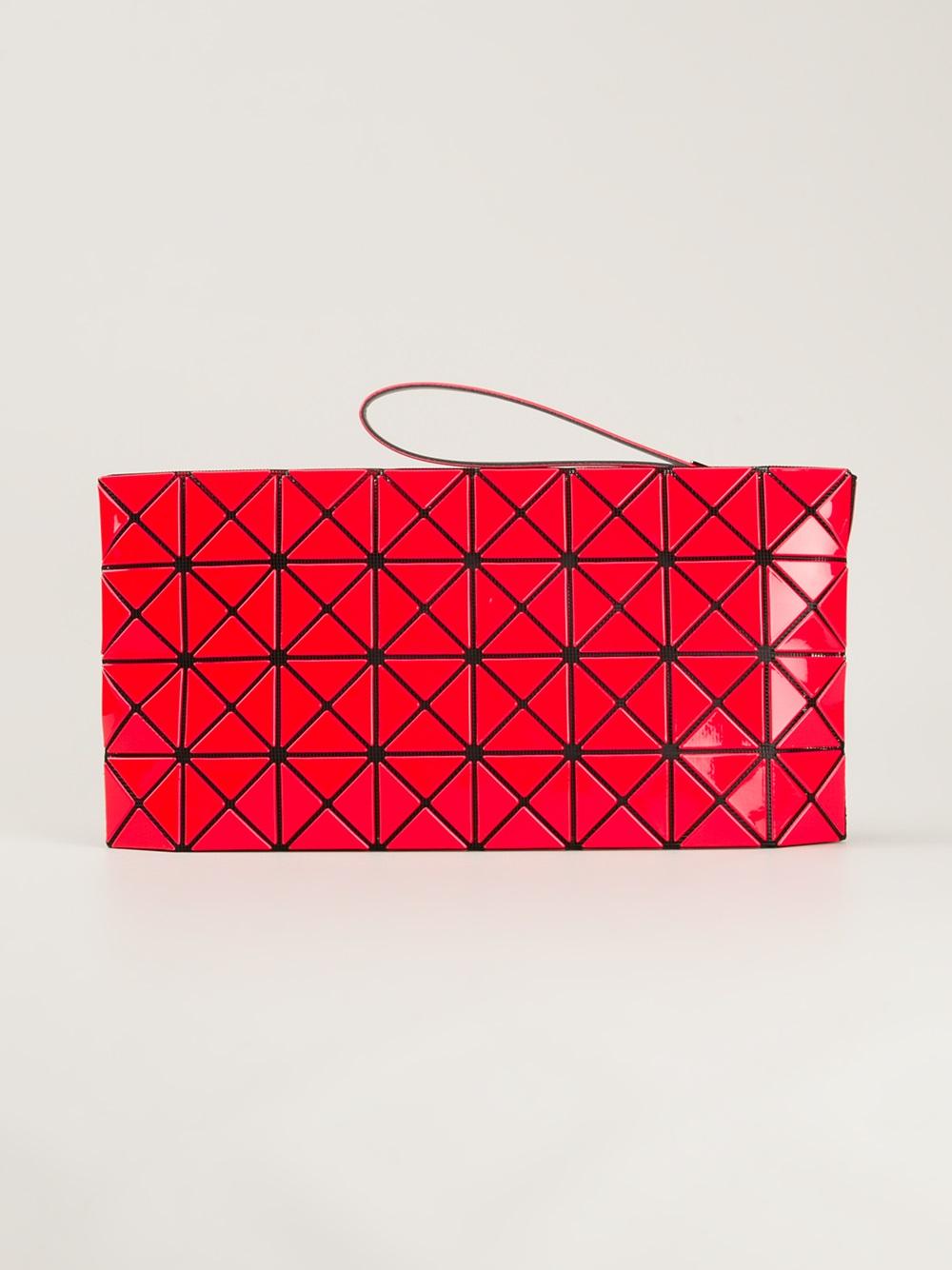Lyst Bao Bao Issey Miyake Clutch Bag In Red