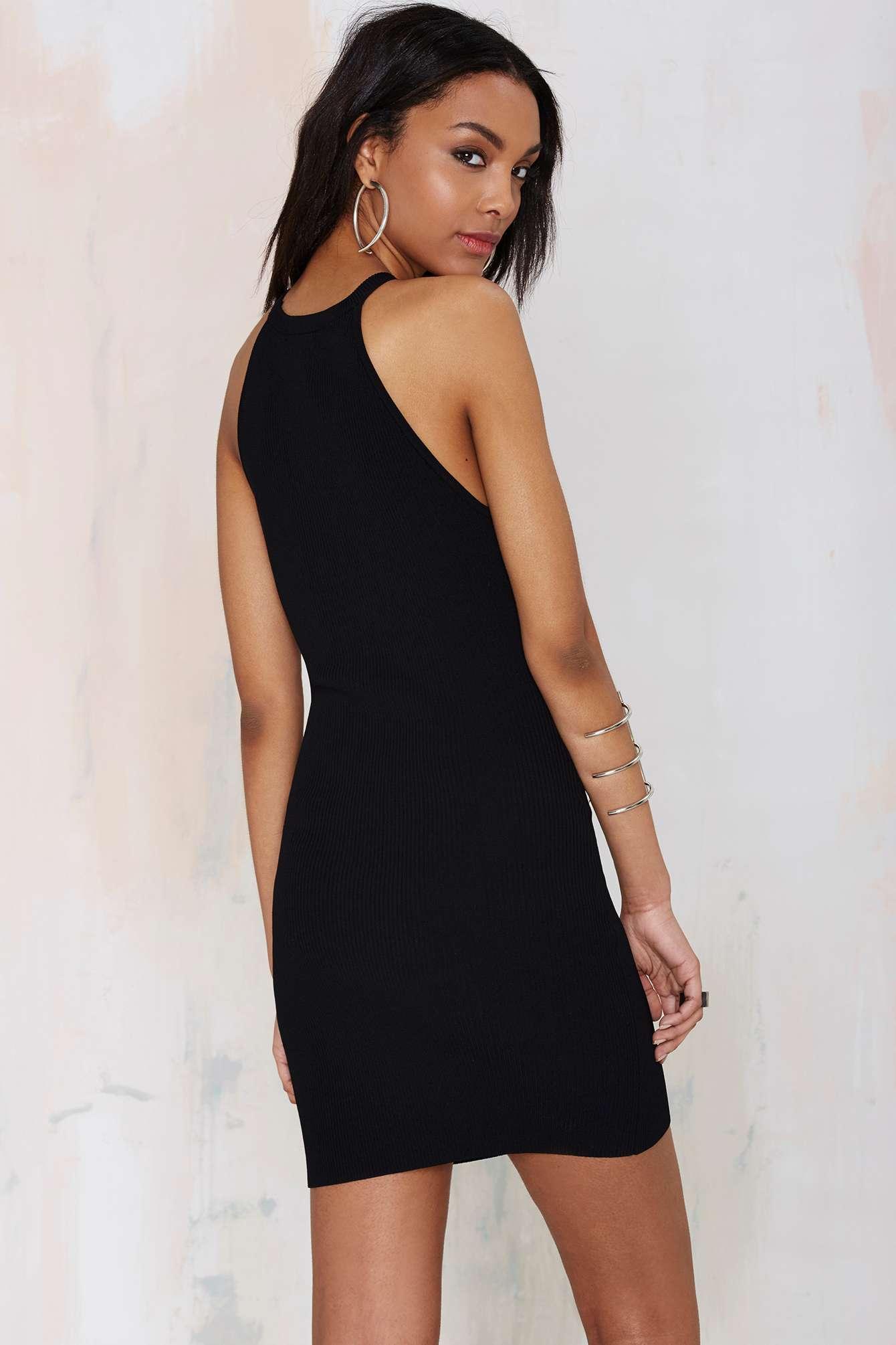 Lyst Nasty Gal Hold Tight Cutaway Dress In Black