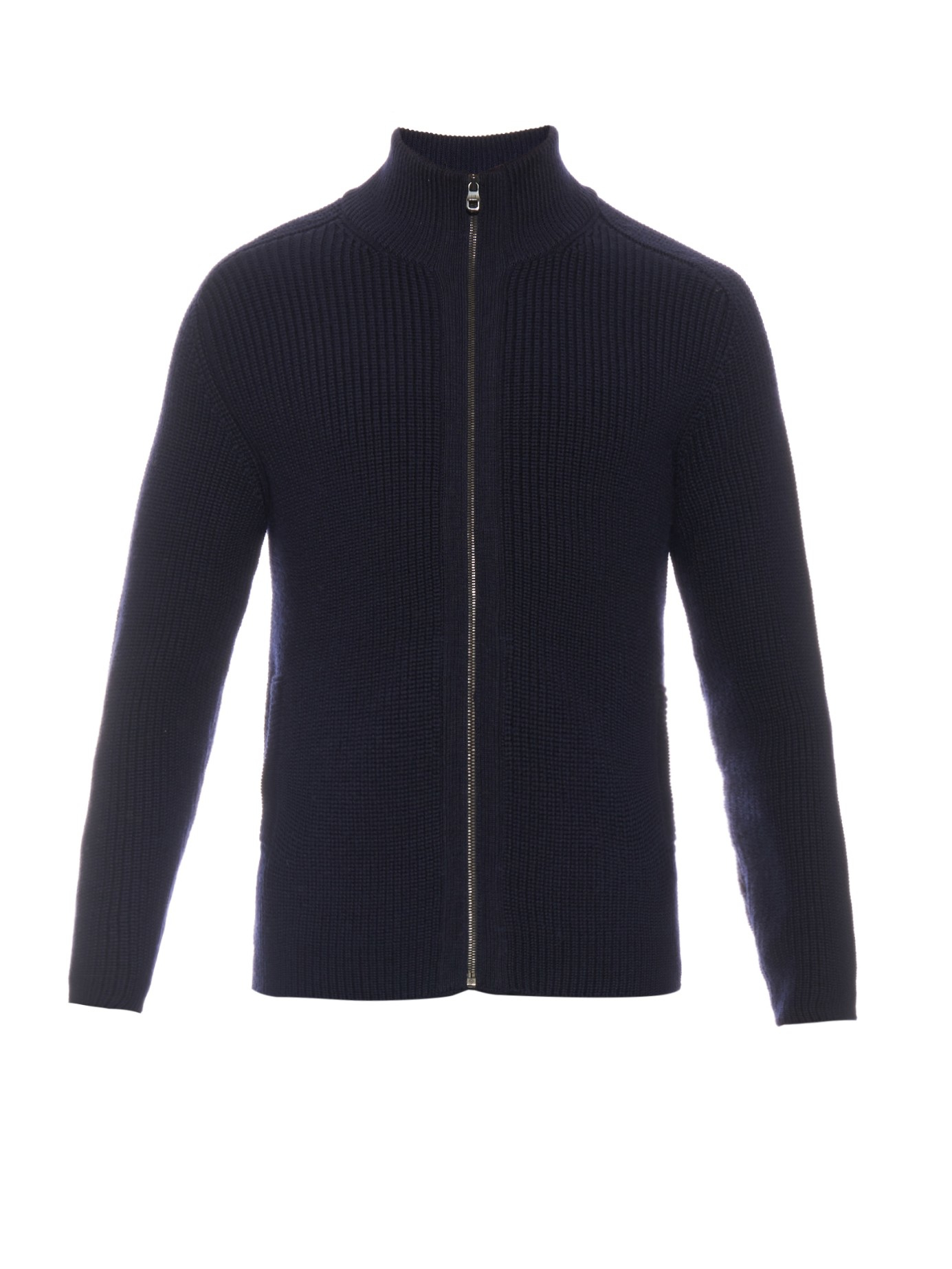 Dunhill Zip-up Wool Sweater in Blue for Men | Lyst