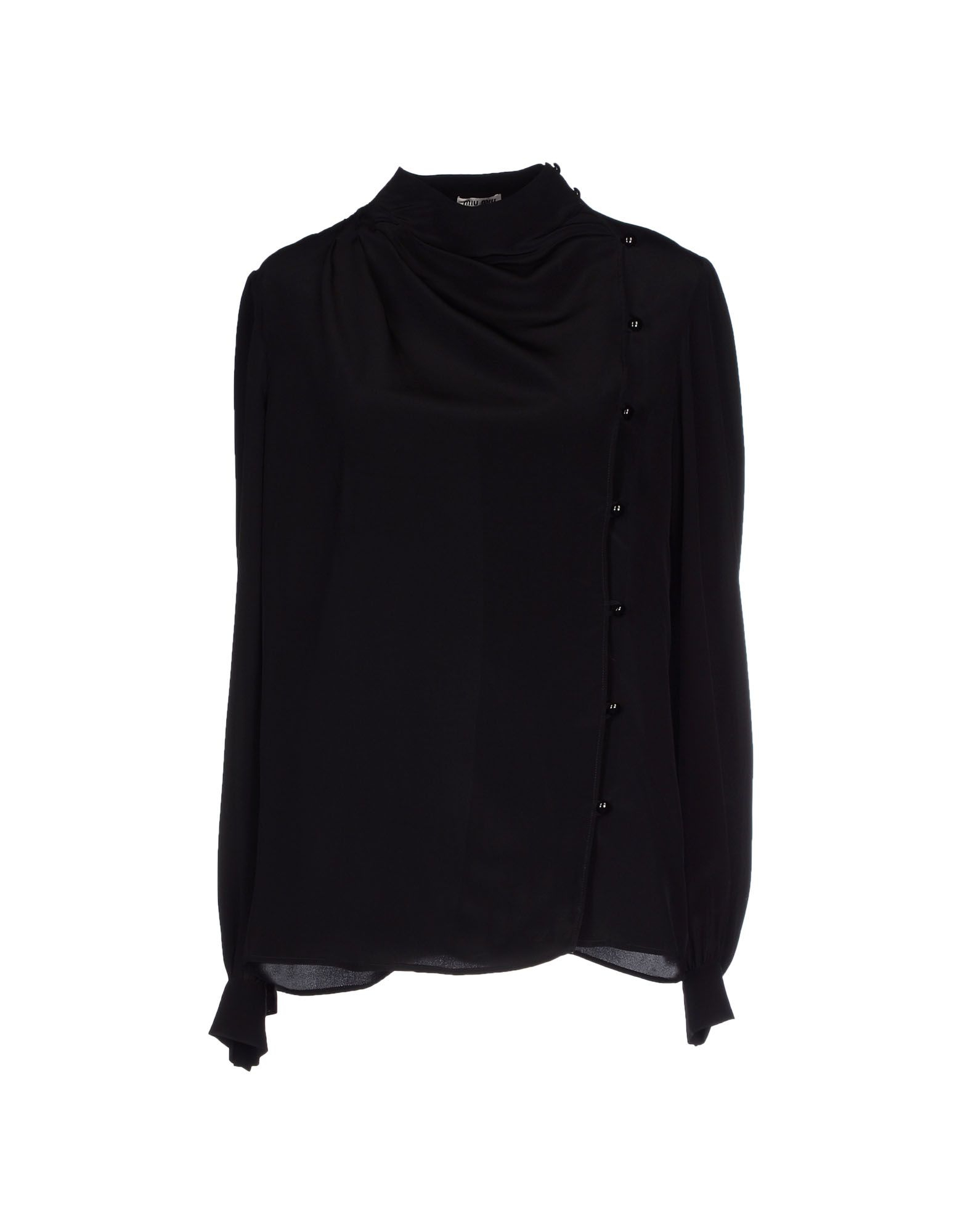 Miu miu shirt in black lyst for Miu miu t shirt