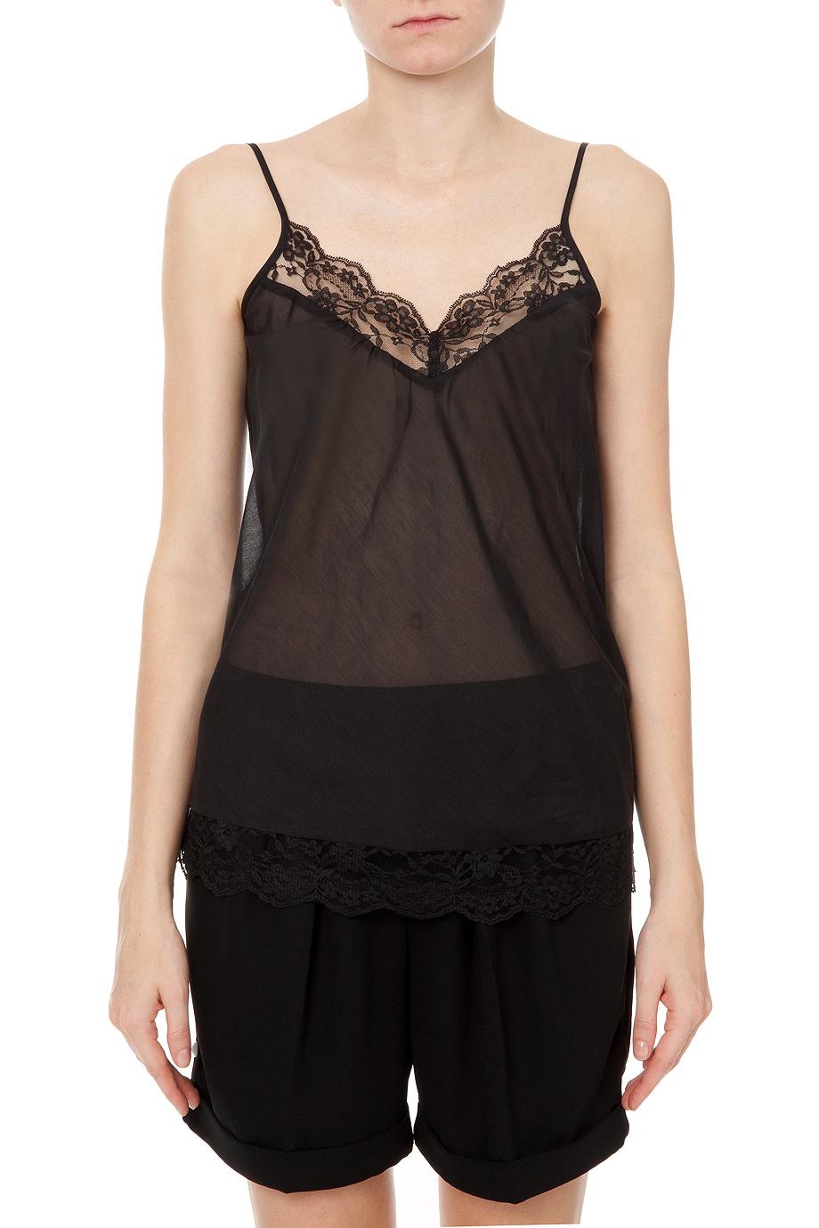 lyst day birger et mikkelsen day vidar silk lace top in. Black Bedroom Furniture Sets. Home Design Ideas