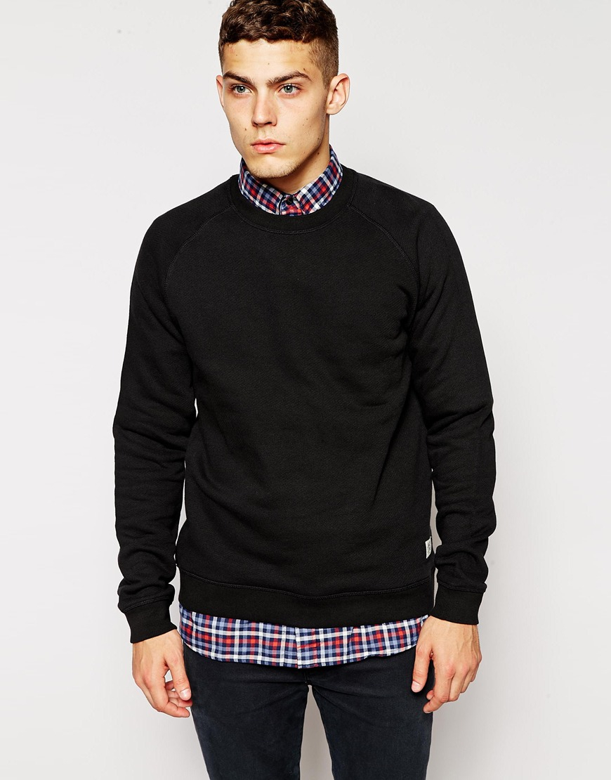 jack jones sweatshirt in black for men lyst. Black Bedroom Furniture Sets. Home Design Ideas