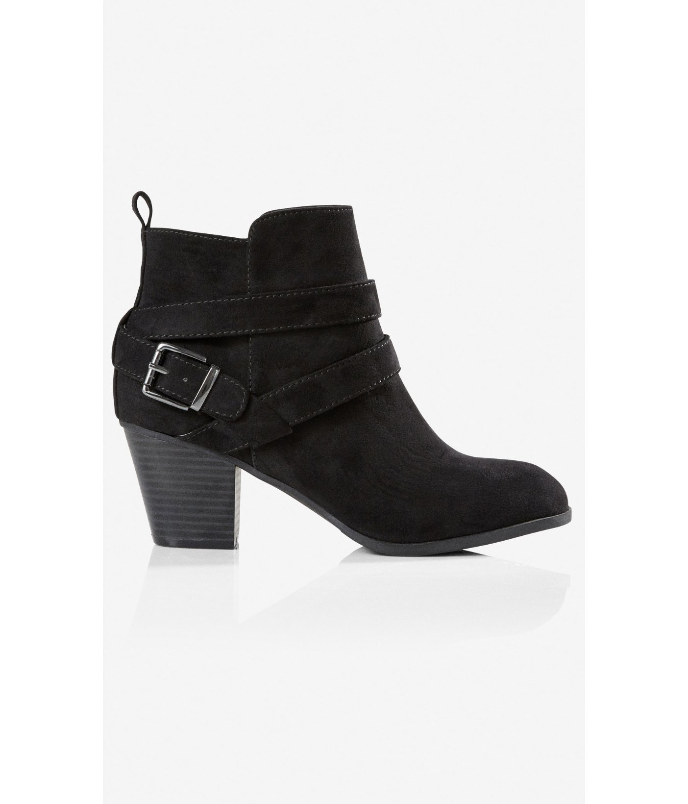 express zip up buckle ankle boot in black lyst