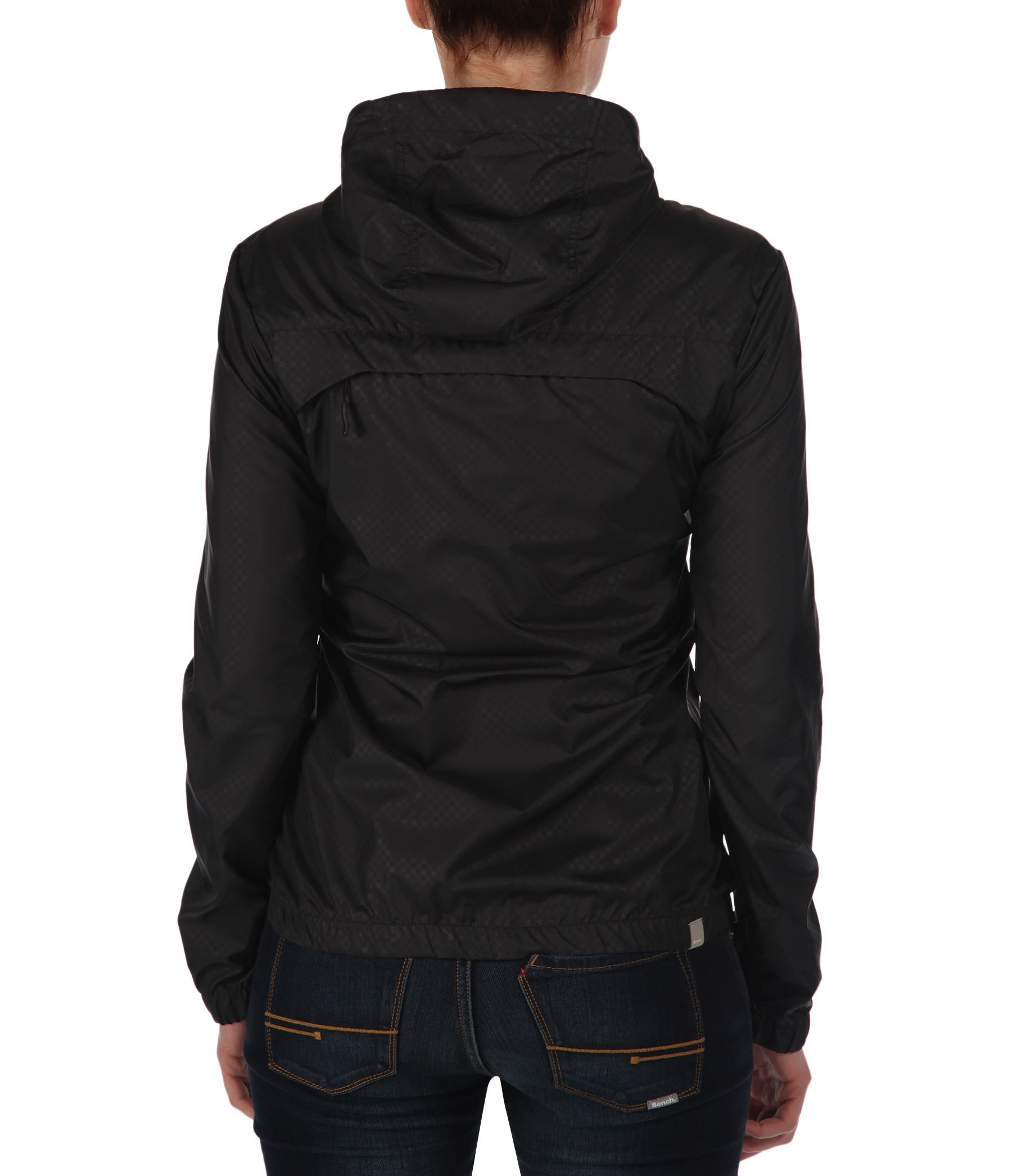 Bench retrocag ii c hooded packaway jacket in black lyst Bench jacket