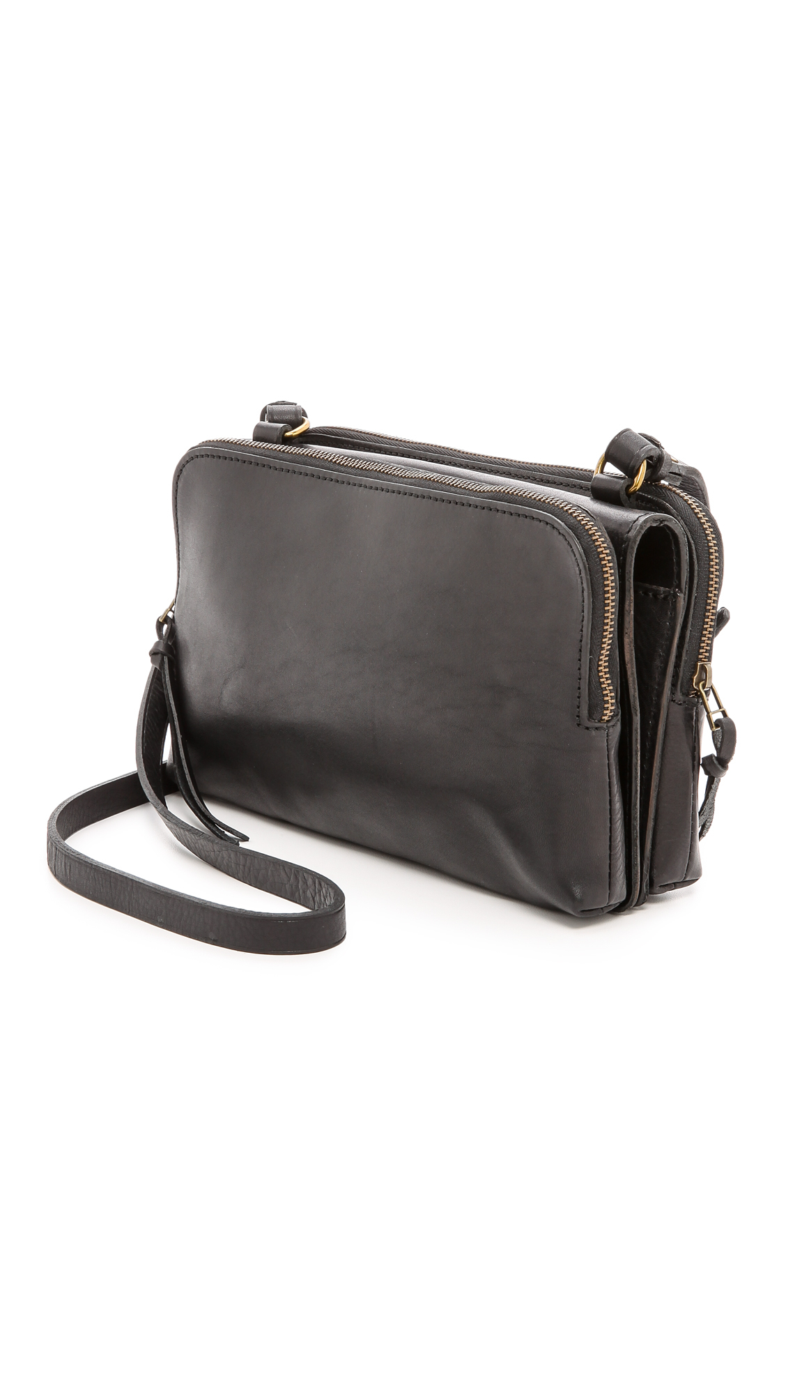 Madewell Twin Pouch Cross Body Bag - True Black