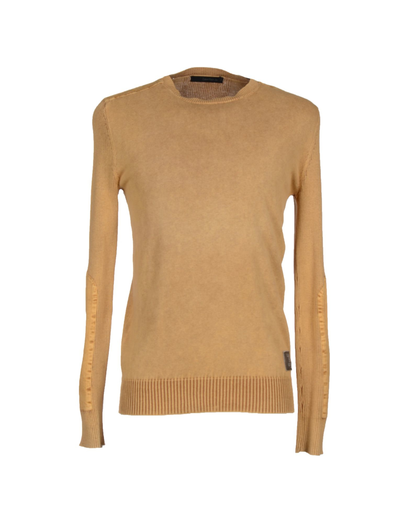calvin klein jeans sweater in beige for men ocher lyst. Black Bedroom Furniture Sets. Home Design Ideas