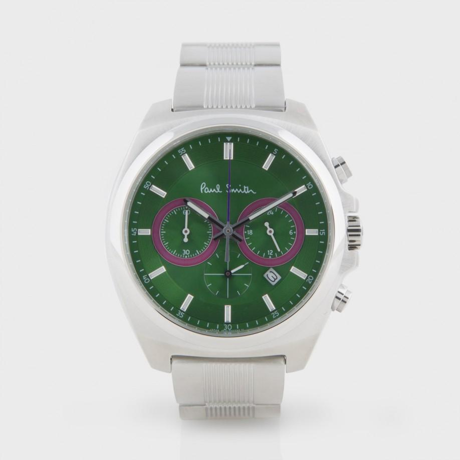 paul smith green chronograph in green