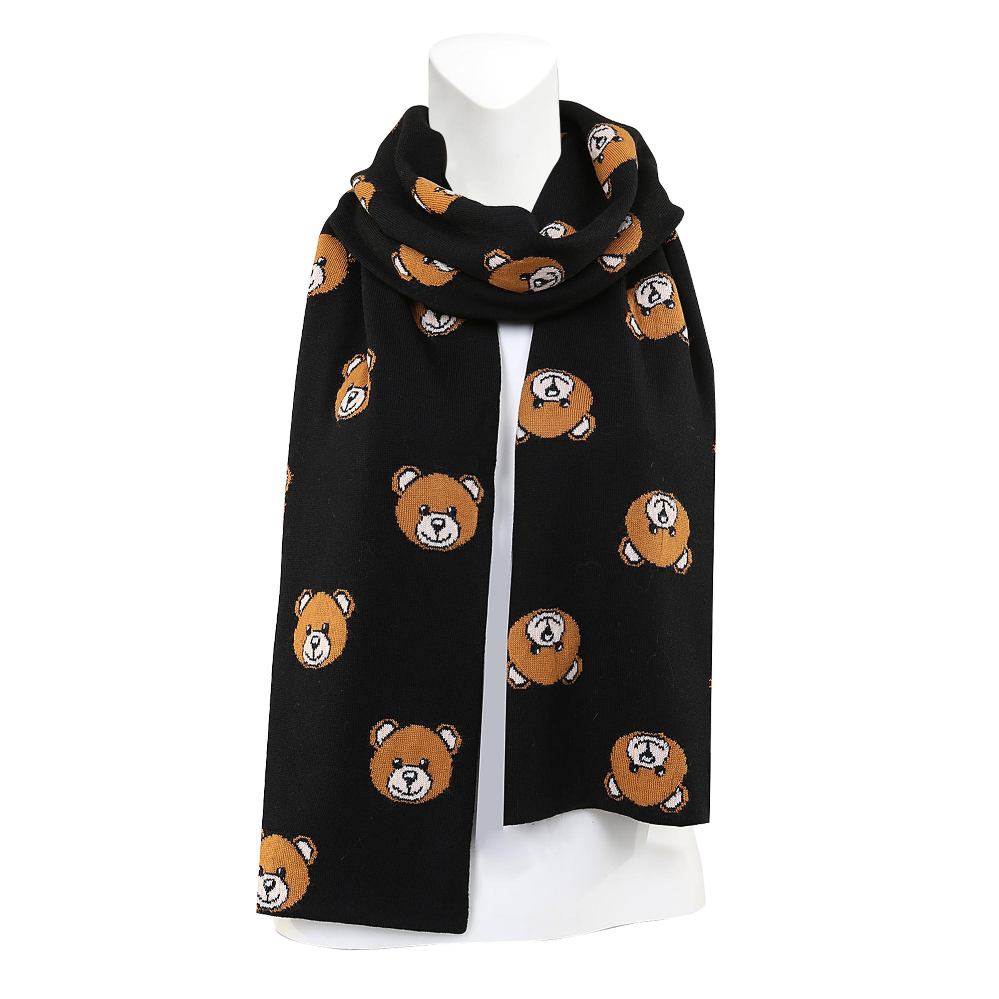 moschino 24x200 print scarf in black lyst