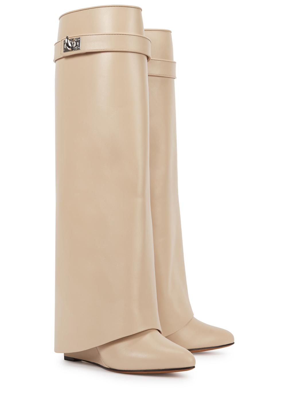 Givenchy Blush Overlay Leather Knee Boots in Pink
