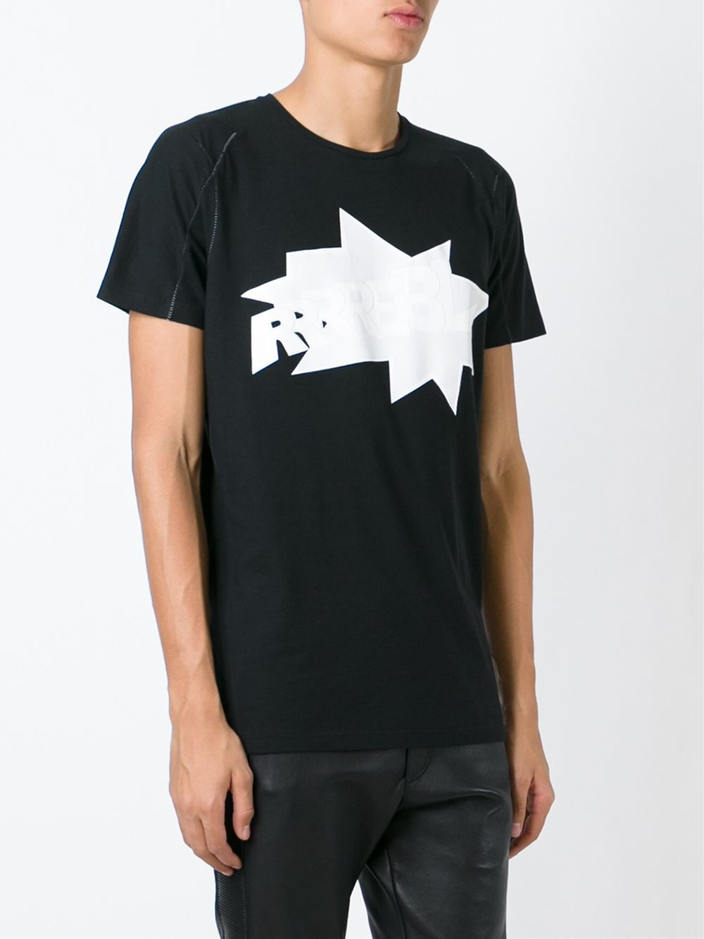 A T-shirt (or t shirt, or tee) is a style of unisex fabric shirt named after the T shape of its body and sleeves. It normally has short sleeves and a round neckline, known as a crew neck, which lacks a collar.T-shirts are generally made of a stretchy, light and inexpensive fabric and are easy to clean.