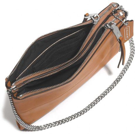 Coach Crossbody Brown Leather Bag Coach Crossbody Bag in