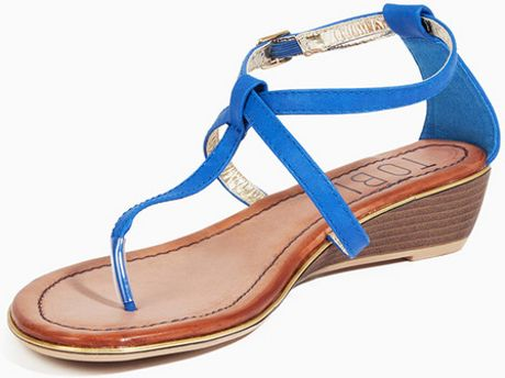 Tobi Cathleen Sandals In Blue Cobalt Lyst