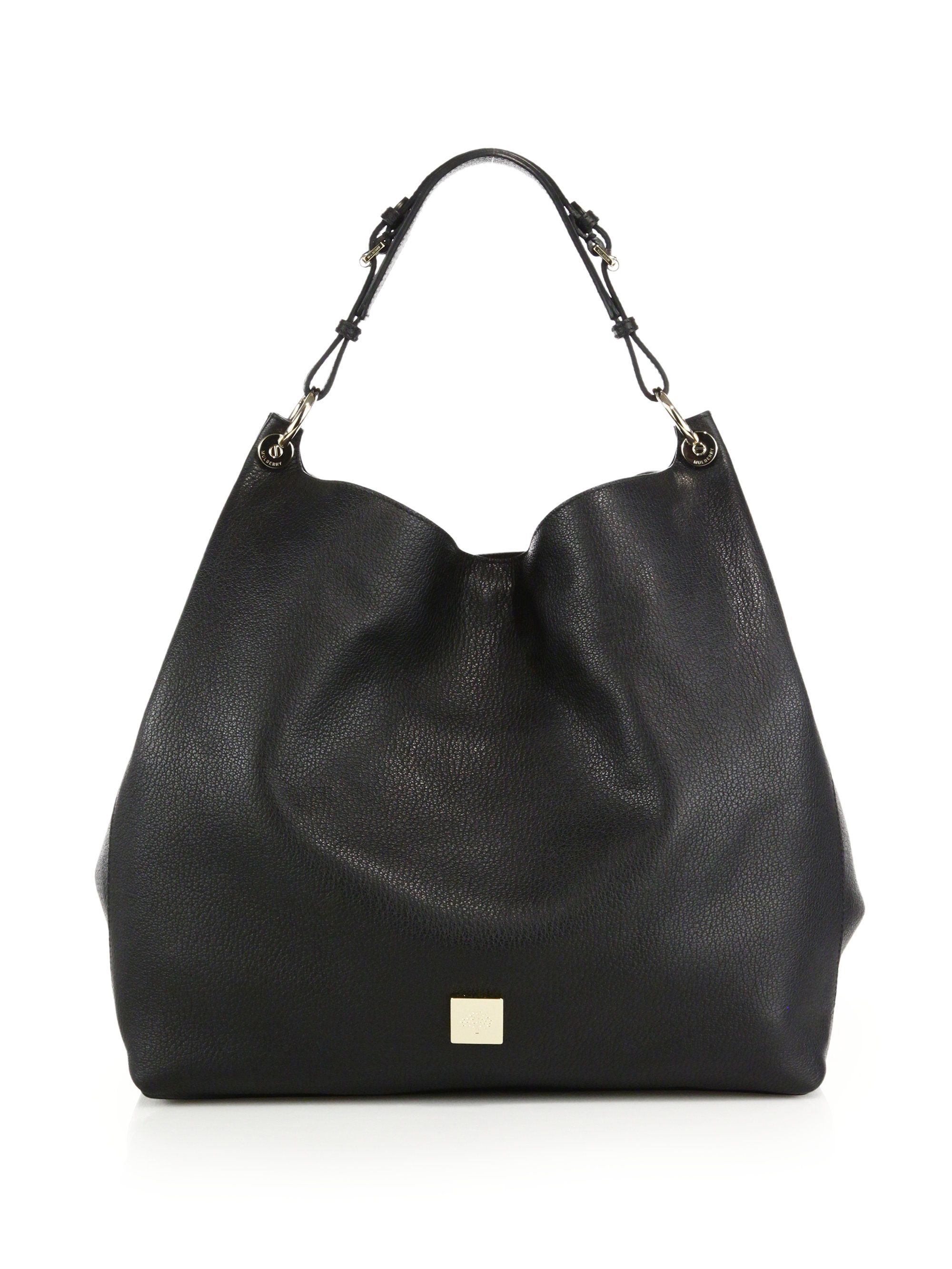 5d835c0f1d11 ... closeout lyst mulberry freya leather hobo bag in black 151b4 6cdee