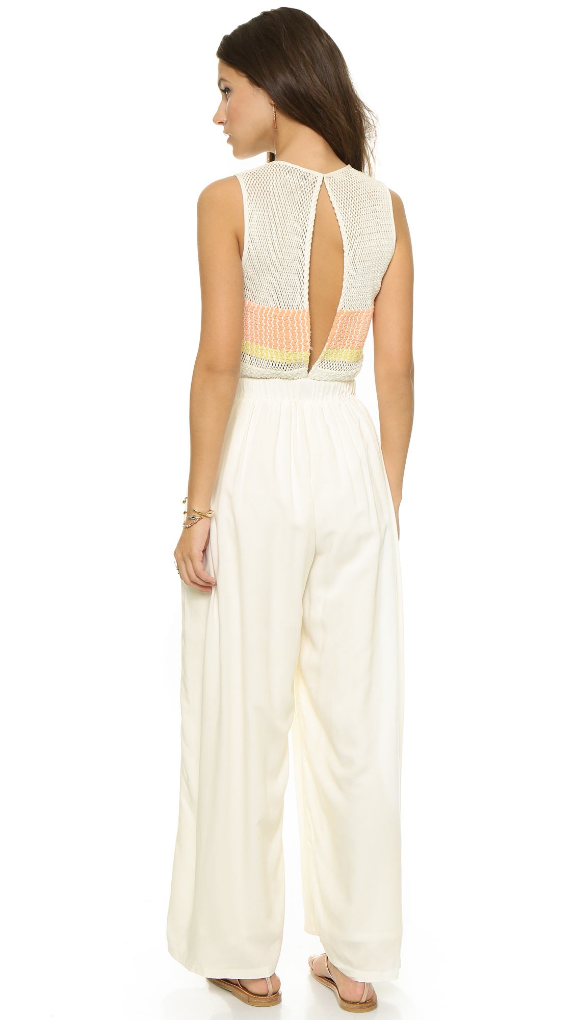 6f628a0cf60a Mara Hoffman Embellished Jumpsuit - White in Natural - Lyst