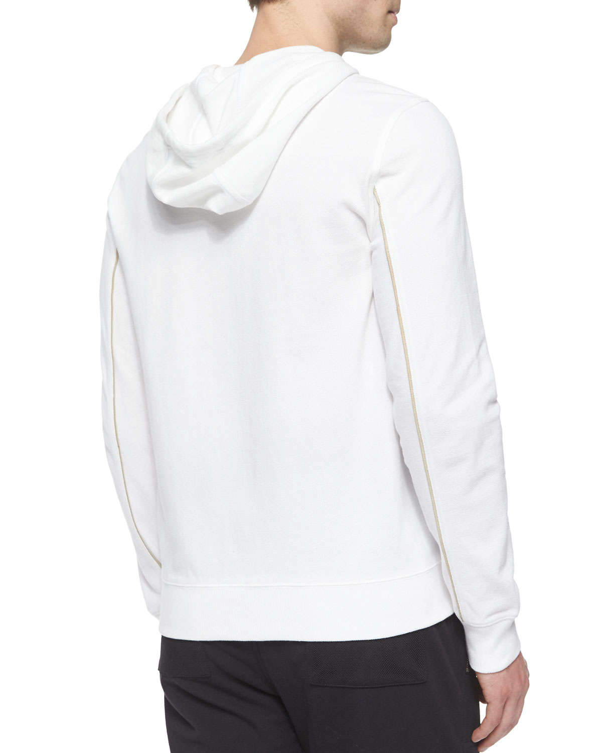 758abc0d0bdcb Lyst - Michael Kors Waffle-knit Zip-up Hoodie Jacket in White for Men