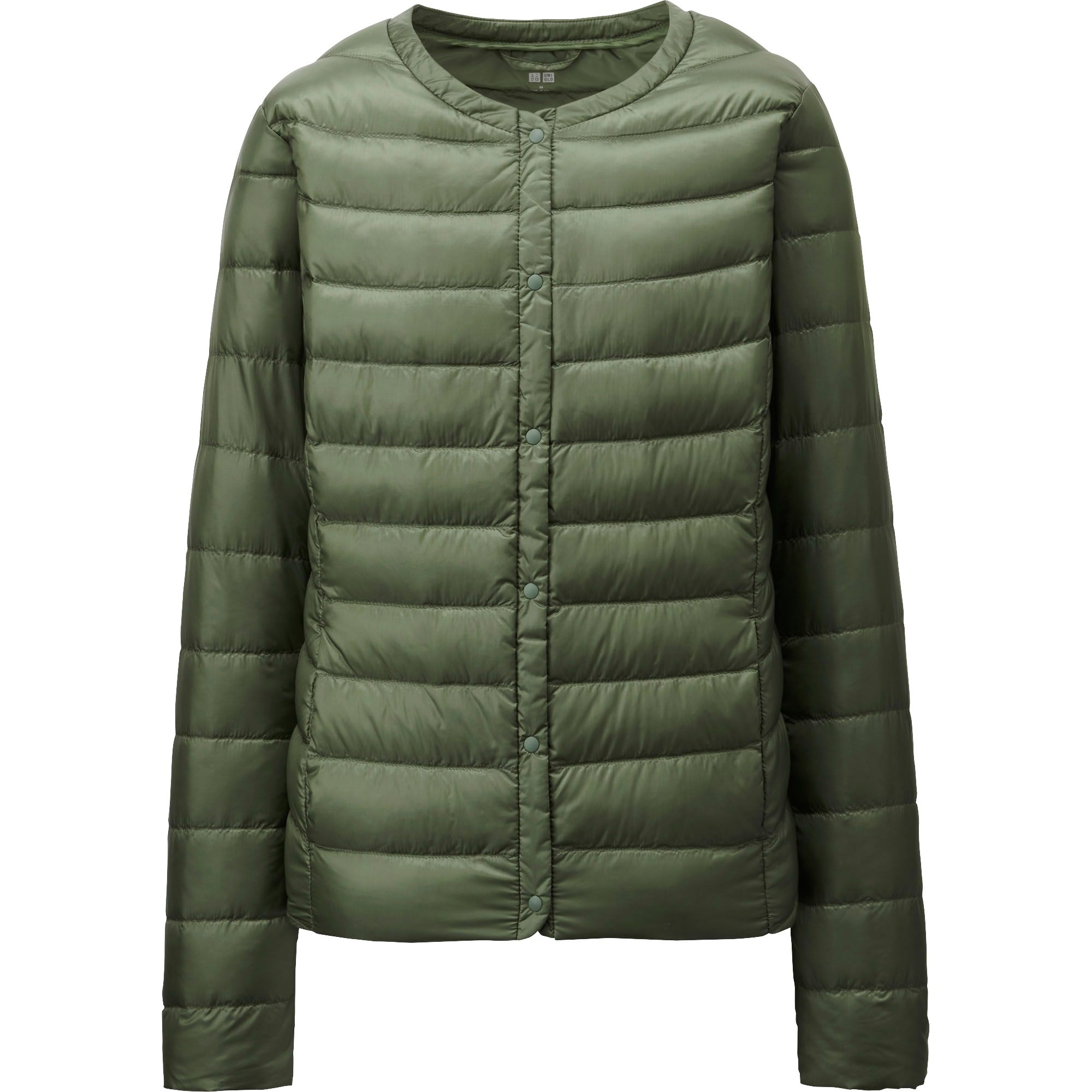 uniqlo women ultra light down compact jacket in green olive lyst. Black Bedroom Furniture Sets. Home Design Ideas