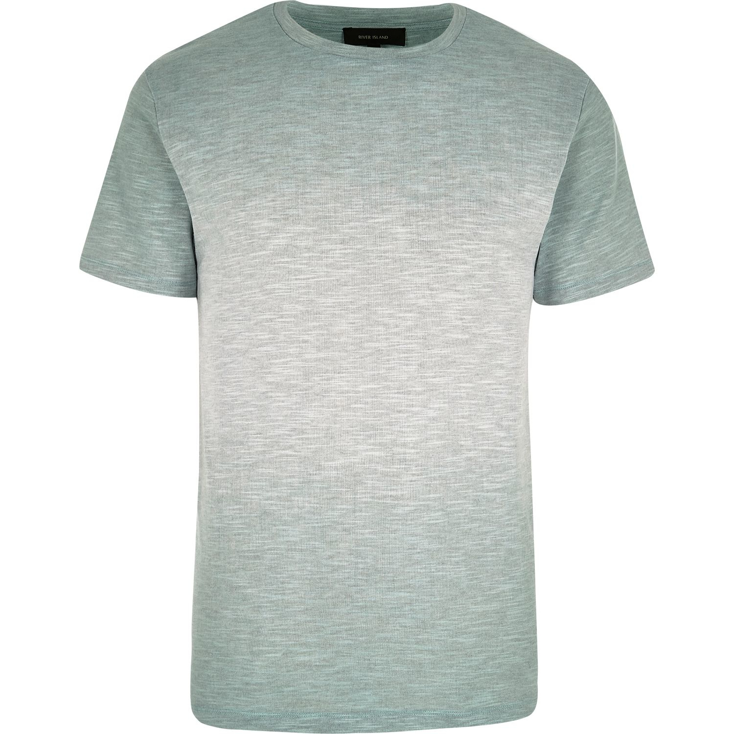 River island green faded texture t shirt in green for men for Faded color t shirts