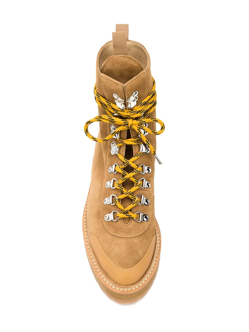 2b14bdaba0857 Off-White c/o Virgil Abloh Lace-up Hiking Boots in Brown - Lyst