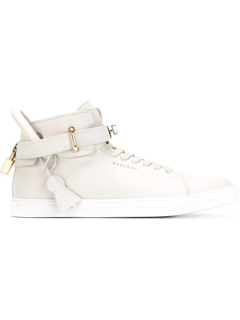 For Hi Men Buscemi Detail Lock Natural Top Lyst In Sneakers 8UzPtnx