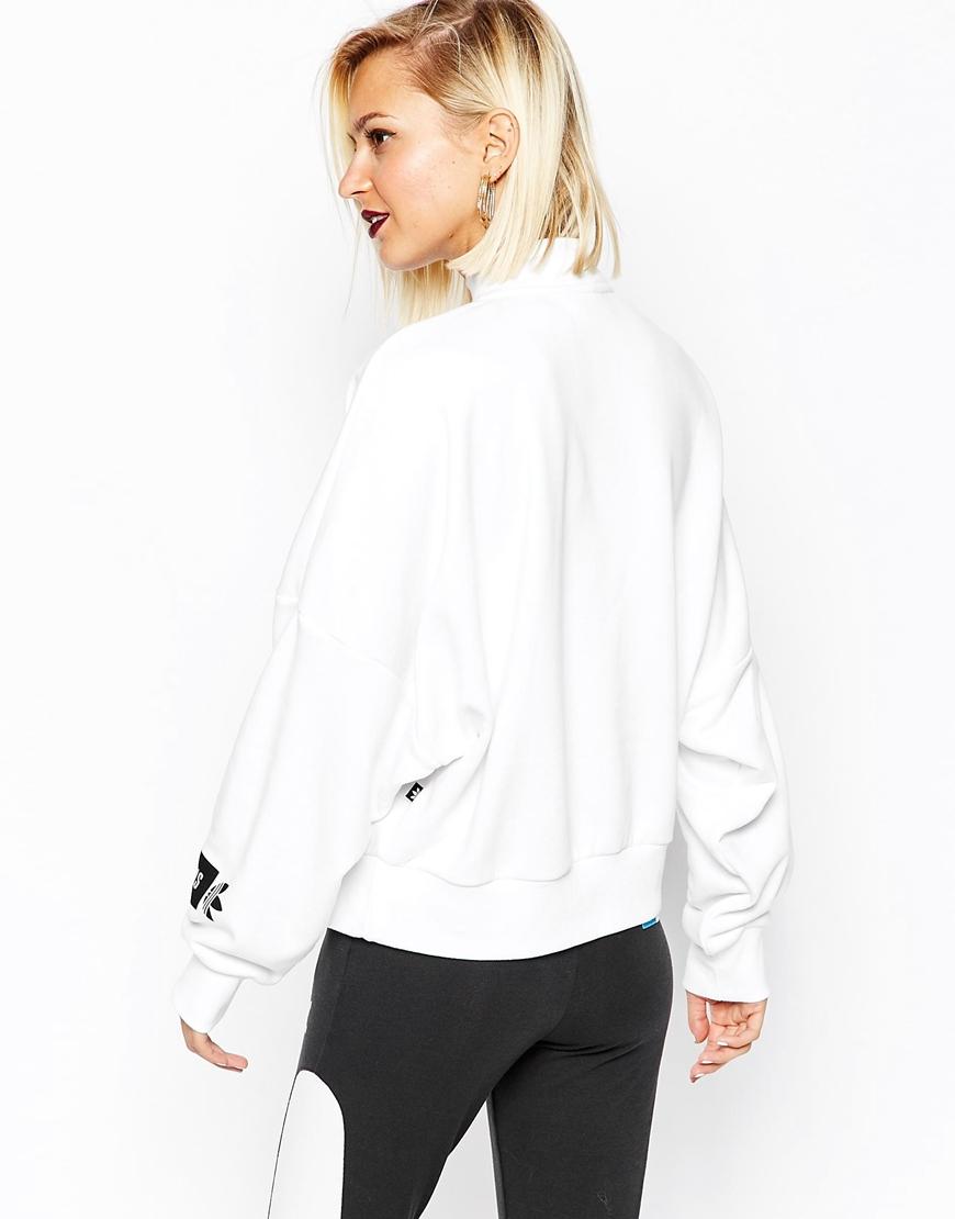 shopping good out x wholesale online Women's White Originals Berlin High Neck Sweatshirt