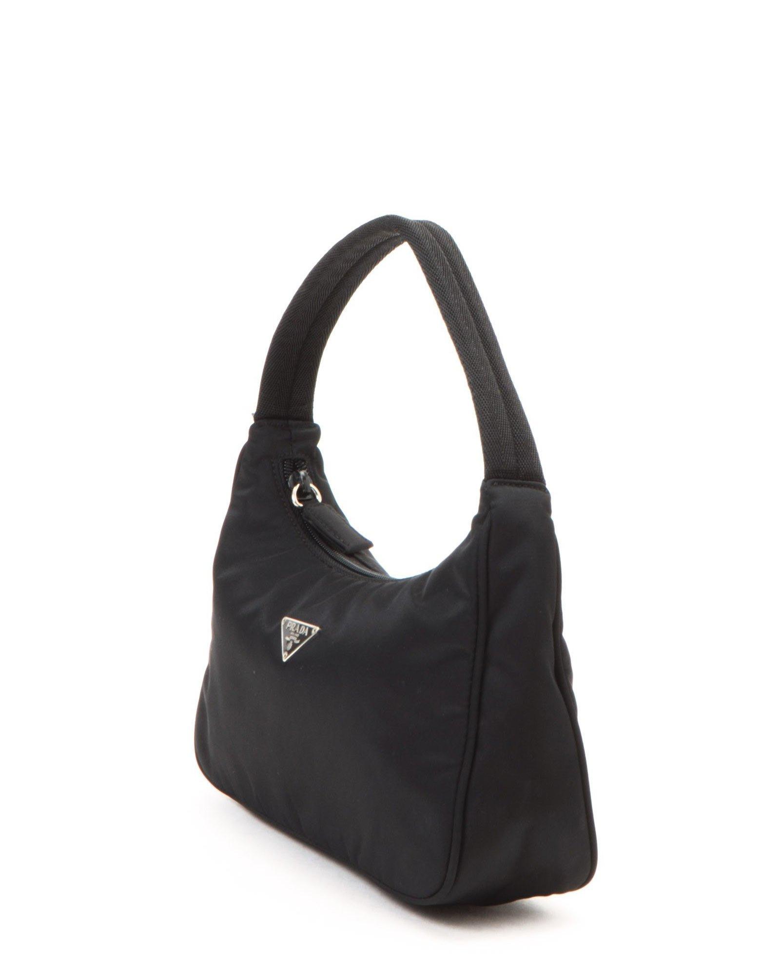 77056e035a Lyst - Prada Black Handbag - Vintage in Black