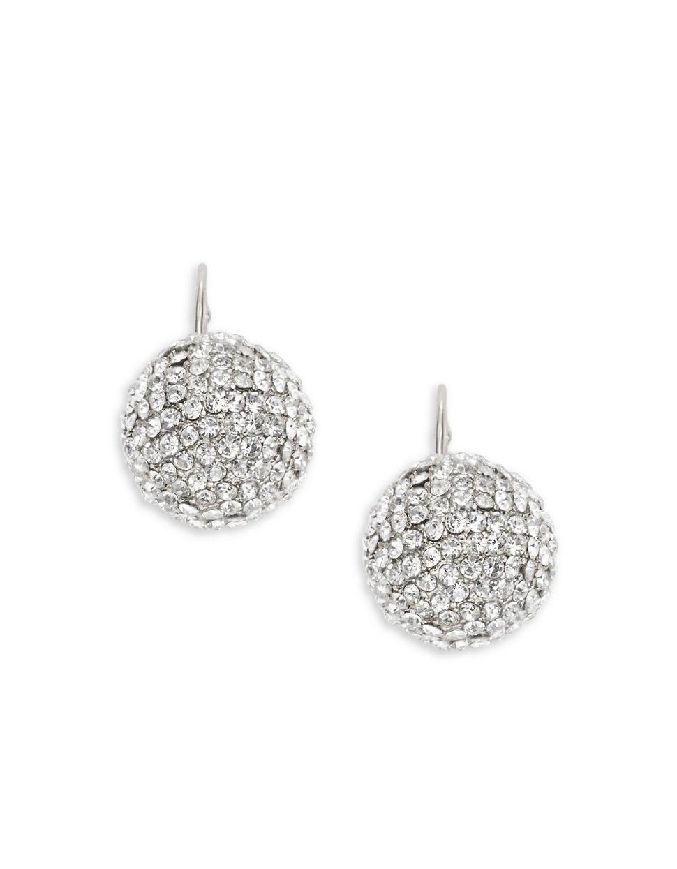 Ball Earring Polyvore Source · Pave Diamond Ball Earrings Topearrings