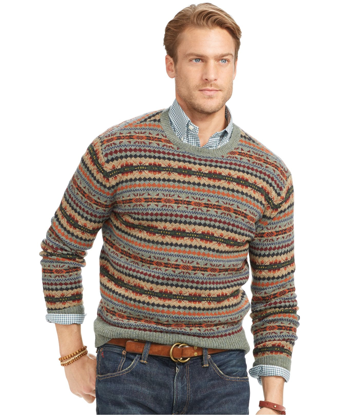 polo ralph lauren fair isle merino wool sweater for men lyst. Black Bedroom Furniture Sets. Home Design Ideas