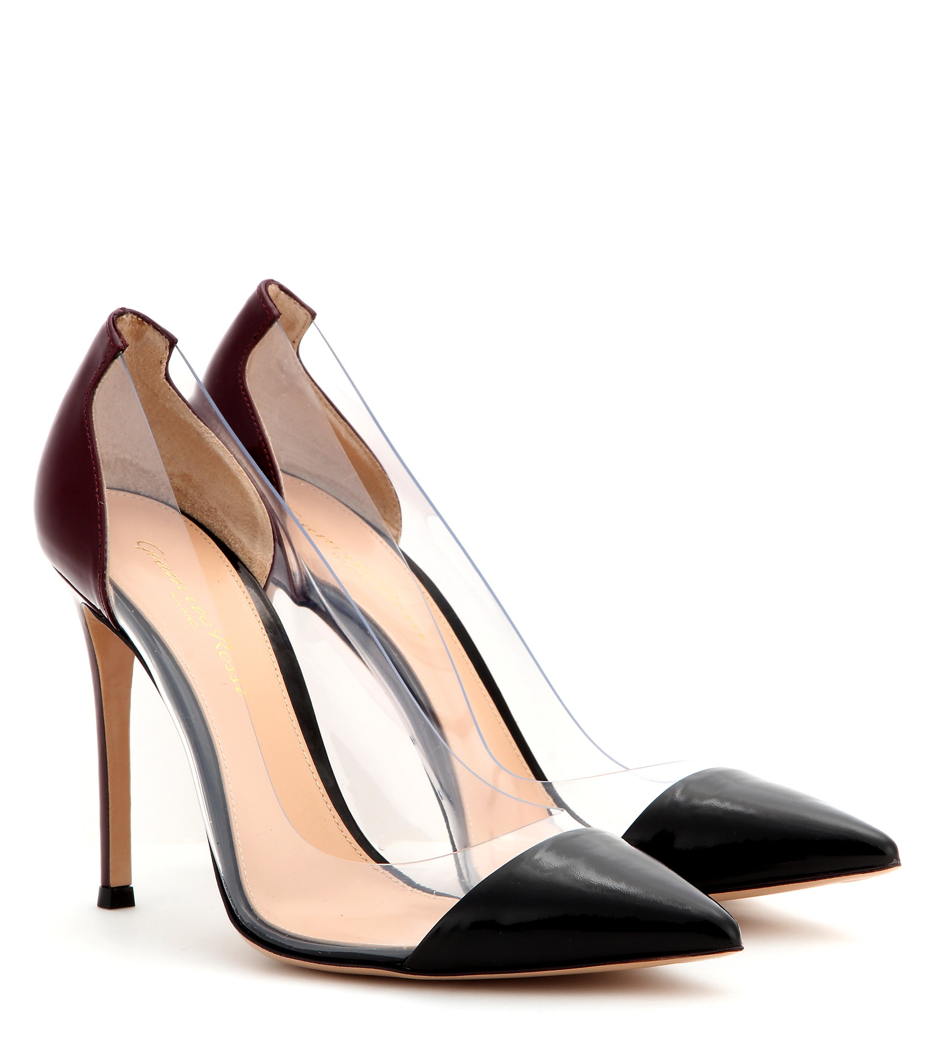 89f84bb6255a Lyst - Gianvito Rossi Patent-leather And Transparent Pumps in Purple