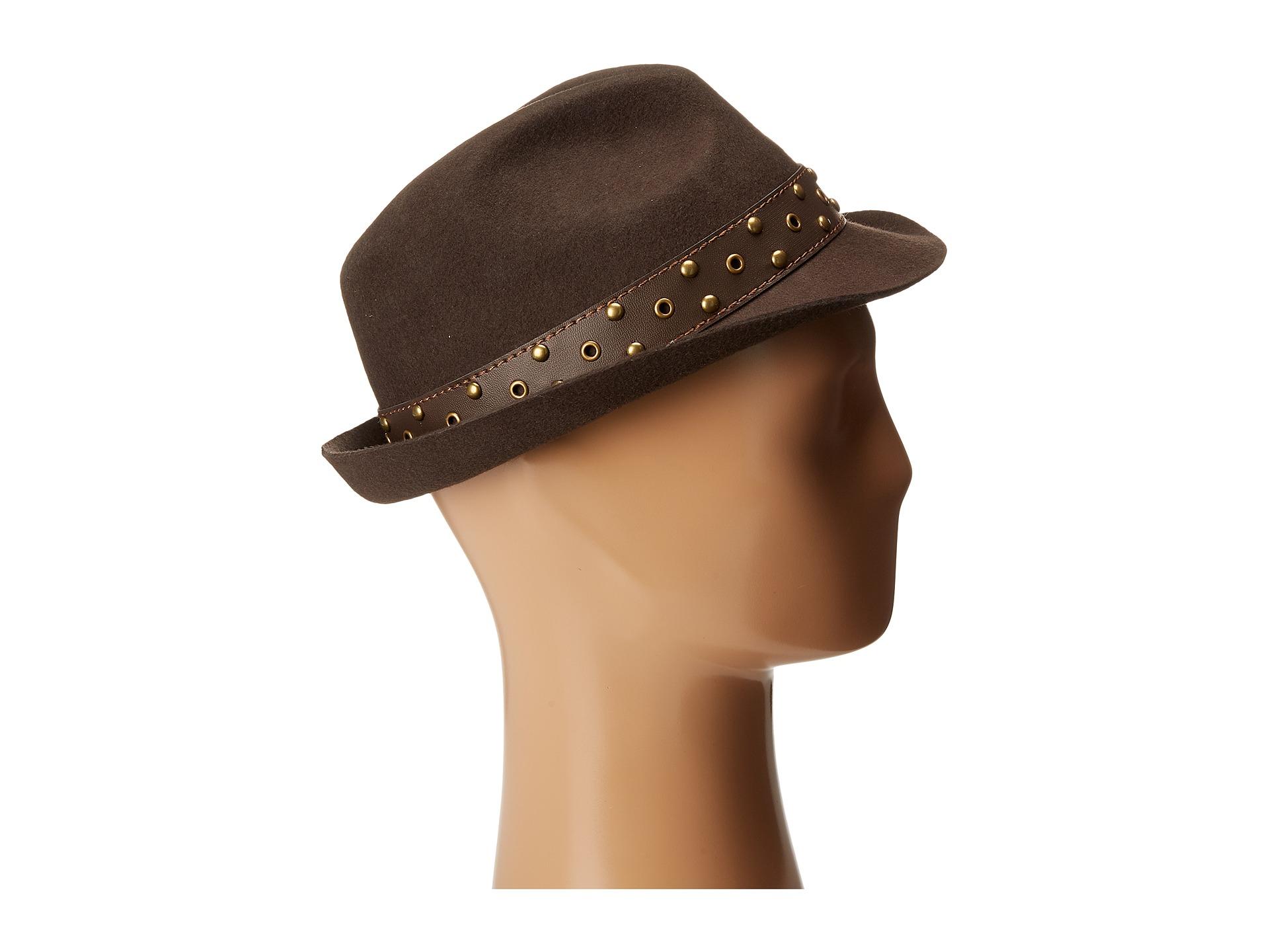 839eb82d80c Lyst - Carlos By Carlos Santana Wool Fedora With Teardrop Crown Hat ...