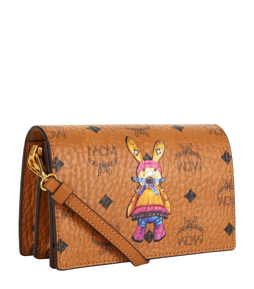 MCM Mini Rabbit Cross Body Bag in Brown