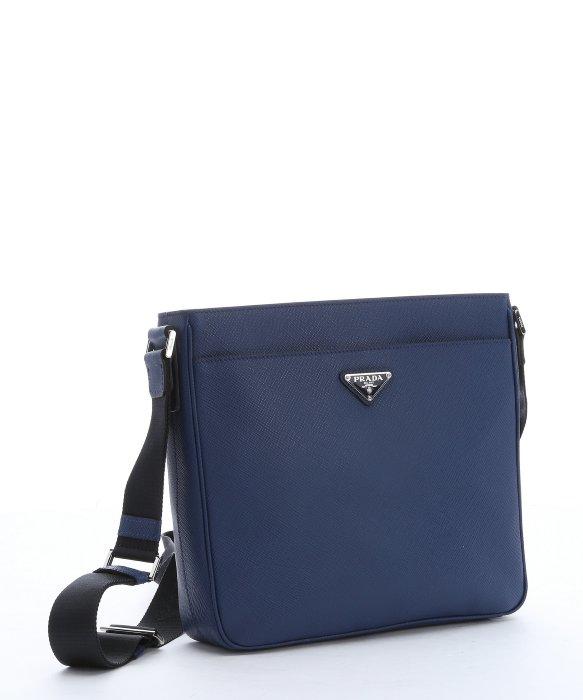 304470912062 ... order lyst prada blue saffiano leather messenger bag in blue for men  ad74a e903a