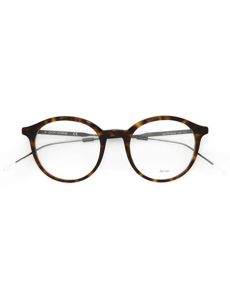 39b6f203f4971 Dior Homme Round Frame Glasses in Brown for Men - Lyst