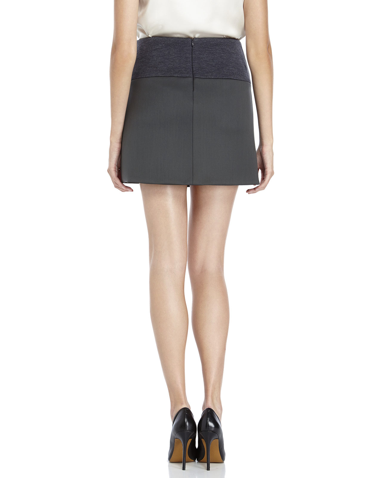 brunello cucinelli pleat front mini skirt in green lyst