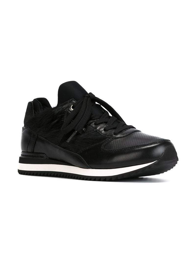 New fashion Mens Dolce  Gabbana Faux Fur Panel Sneakers Website