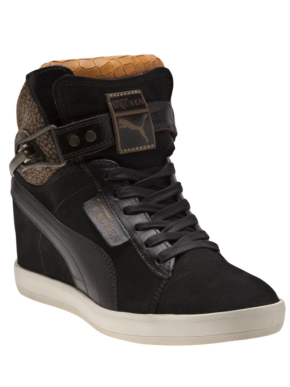 882a705f7e6 Lyst - Alexander McQueen X Puma Joustesse Mid Wedge Sneakers in Black