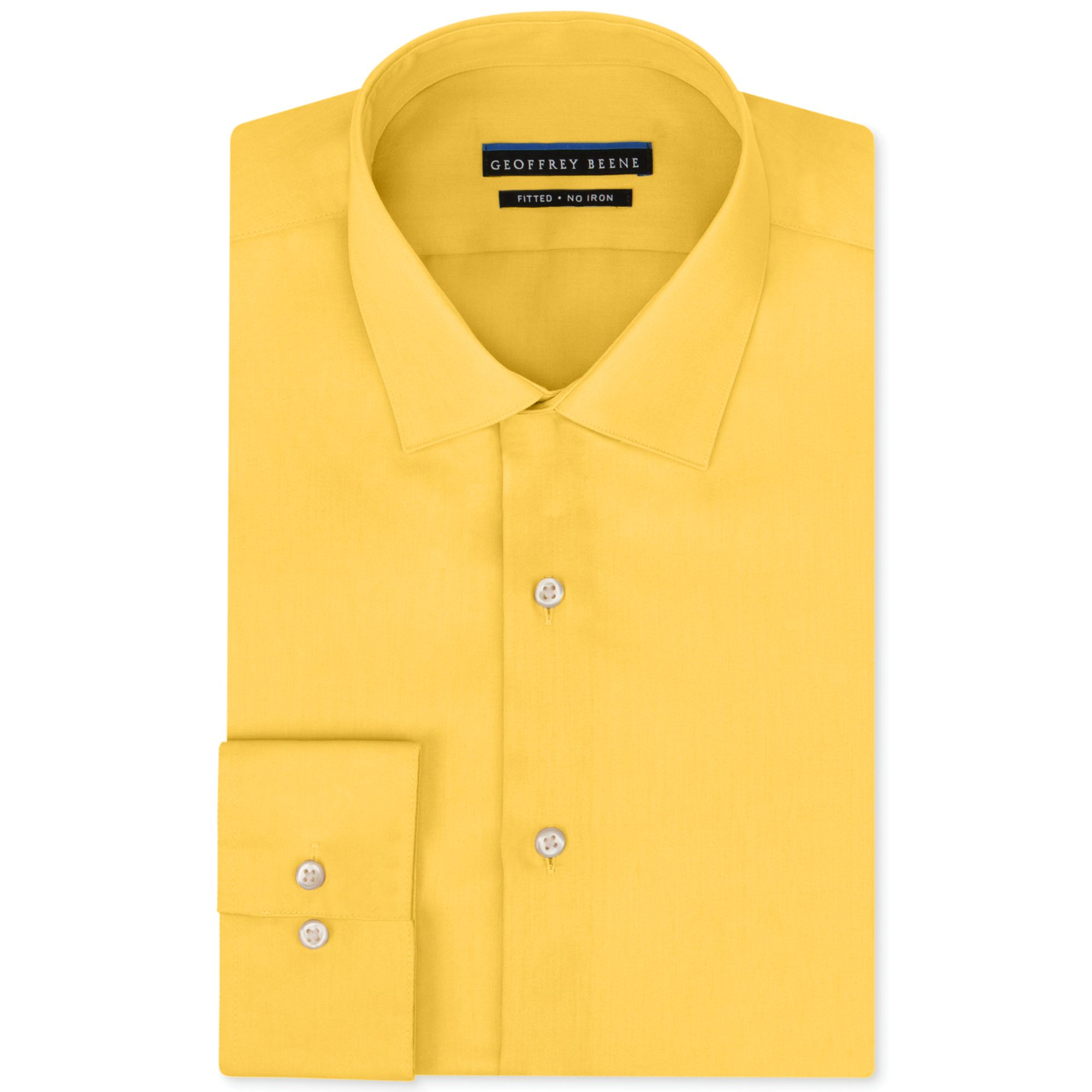Geoffrey beene noniron fitted stretch sateen solid dress for How to stretch a dress shirt