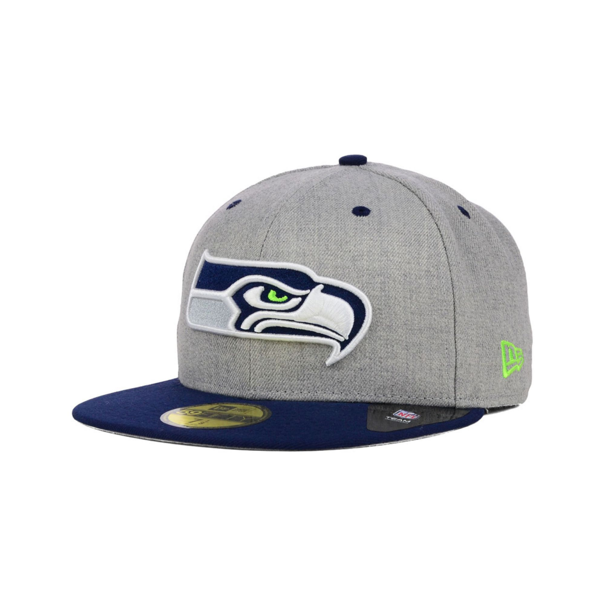 new era seattle seahawks streamliner 59fifty cap in gray. Black Bedroom Furniture Sets. Home Design Ideas