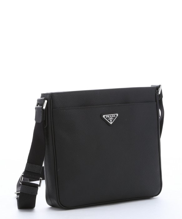 d01e60944b0e63 ... amazon lyst prada black saffiano leather messenger bag in black for men  d11d4 9a25e