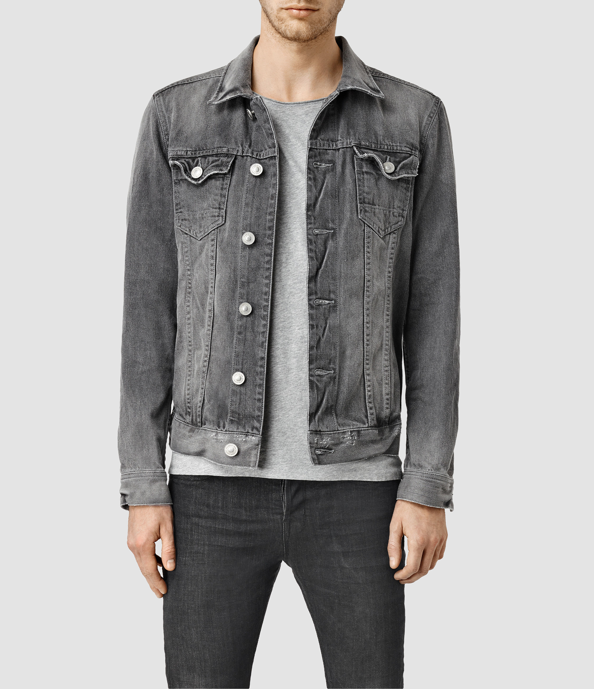 Discover the range of men's denim jackets from ASOS. Shop from a variety of colors and styles, from vintage to oversized denim jackets. Shop now at ASOS. ASOS DESIGN skinny denim jacket in gray. $ ASOS DESIGN Plus oversized denim jacket with back print. $ ASOS DESIGN Plus skinny western denim jacket in black.