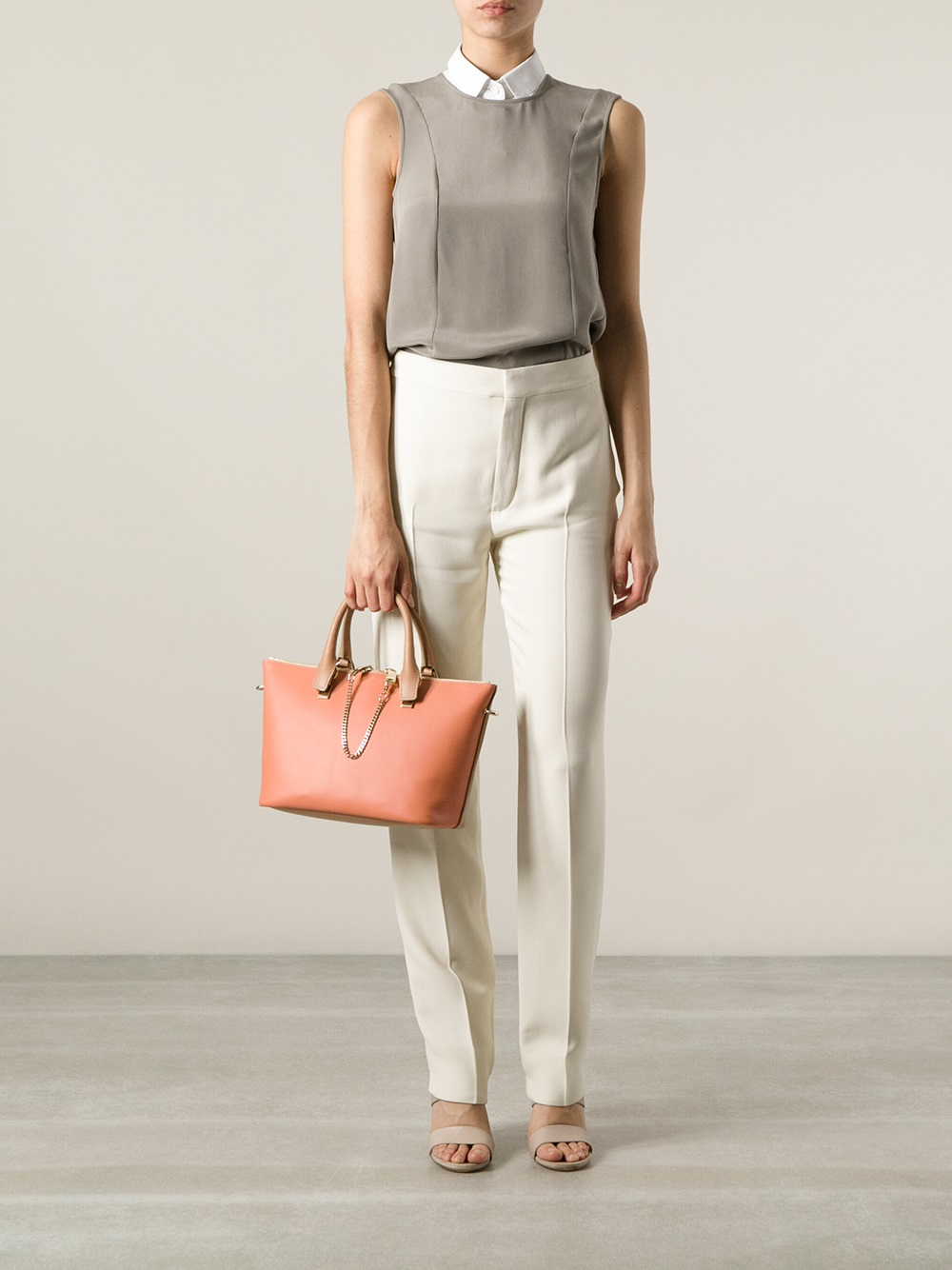 Chloé Baylee Small Tote in Natural