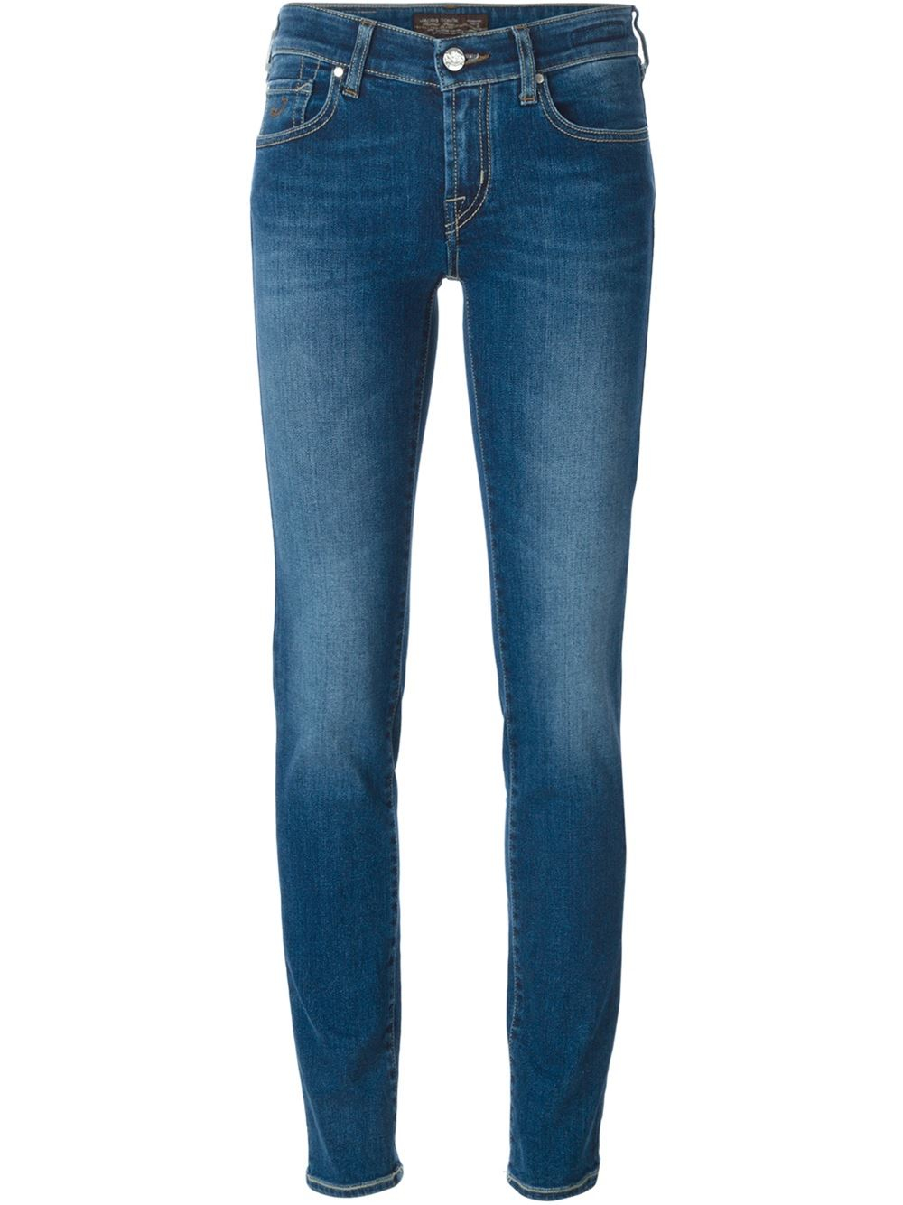 jacob cohen skinny jeans in blue lyst. Black Bedroom Furniture Sets. Home Design Ideas